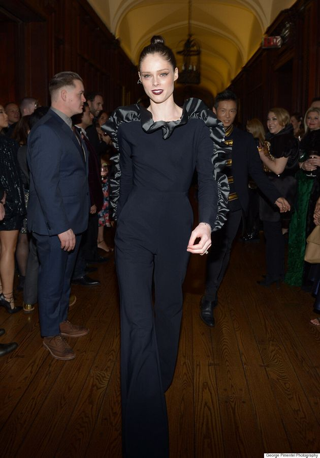 Coco Rocha Storms Makeshift Catwalk At Greta Constantine's 10th Anniversary