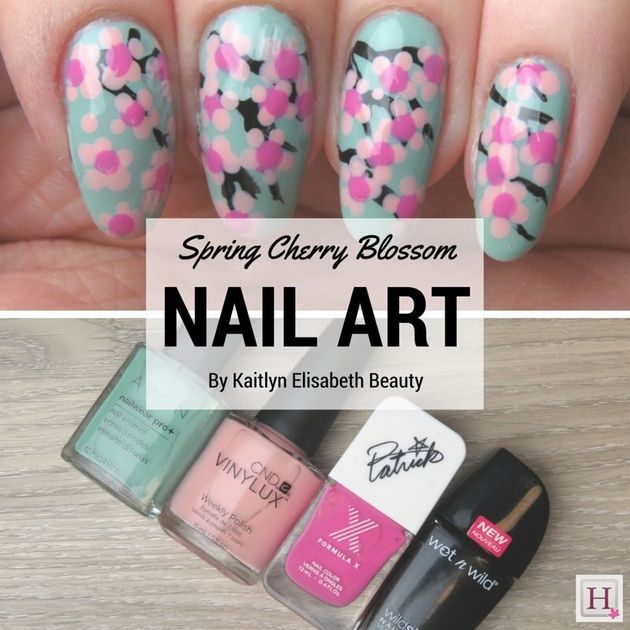 Spring Nail Art: Try This Easy Cherry Blossom
