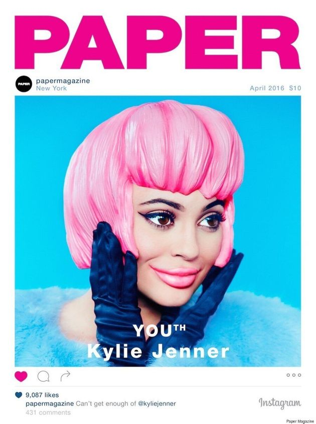 Kylie Jenner Goes Full-On Plastic For The Cover Of Paper