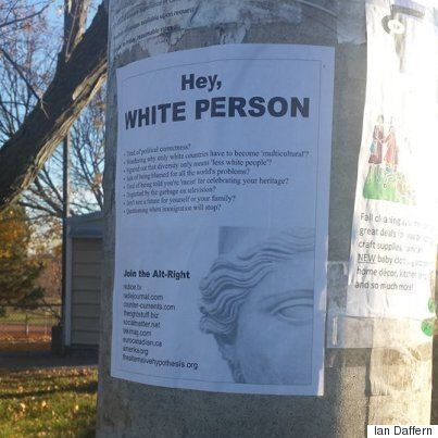 Racist Alt-Right Posters Appear Near Toronto Elementary