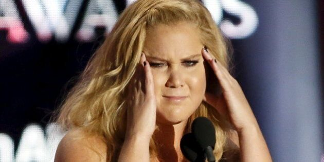 Comedian Amy Schumer accepts the Charlie Chaplin Britannia Award for Excellence in Comedy during the...
