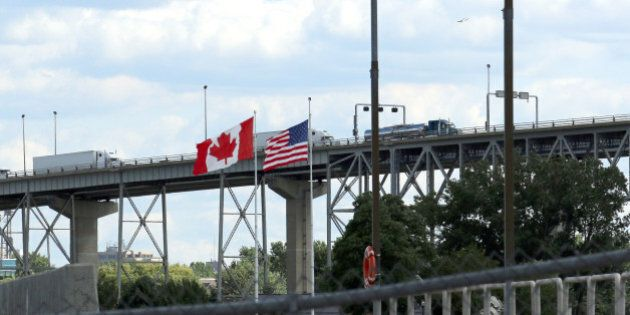 a view of the border of the United States and Canada