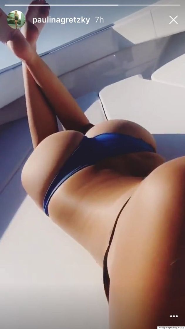 Paulina Gretzky Shares Homemade Music Video And Belfie On