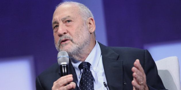 CNBC EVENTS -- Pictured: Joseph Stiglitz, ecomonist and Professor at Columbia University, speaks at the...