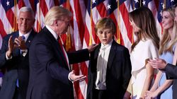 Barron's WTF Face During Dad's Speech Is All Of