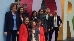 Toronto Women For Hillary Clinton Wear Pantsuits At City