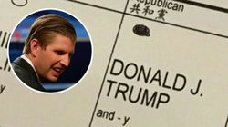 Eric Trump Broke The Law With His Election Day
