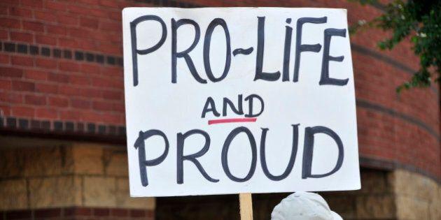 Pro-life anti-abortion activist protestors, Louisville,