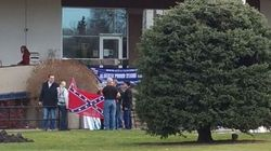 Racists Add Maple Leaves To Confederate Flag At Alberta