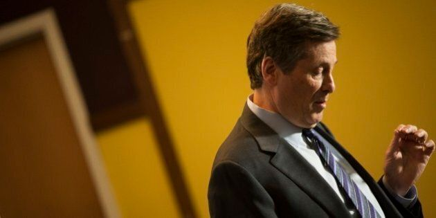 TORONTO, ON - JANUARY 20 - Mayor John Tory speaks at the Covenant House during an event held to announce...