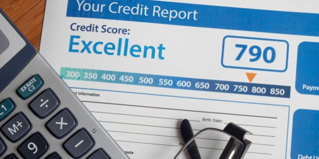Credit report with score on a