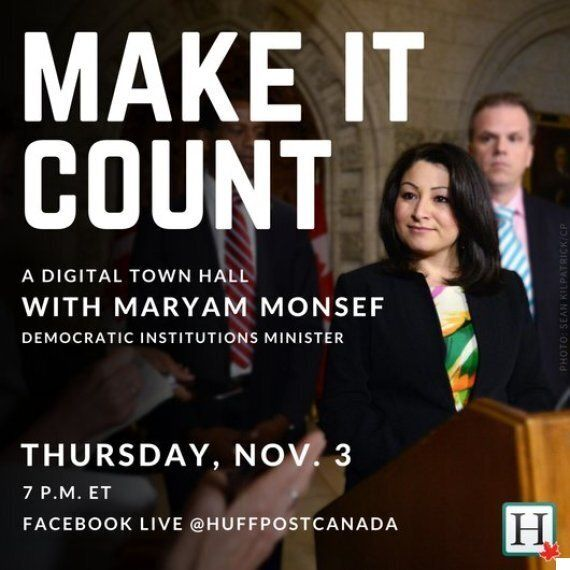 Maryam Monsef Town Hall: Democratic Institutions Minister Answers Electoral Reform