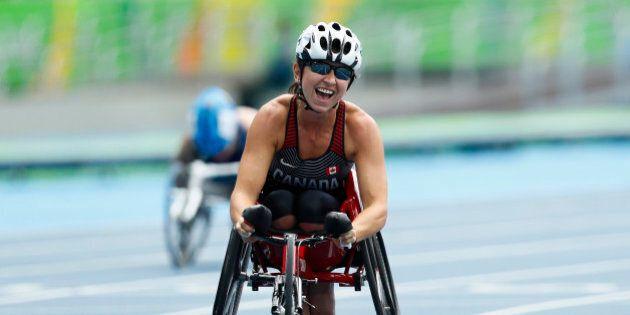 2016 Rio Paralympics - Women's 400m - T52 Final - Olympic Stadium - Rio de Janeiro, Brazil - 10/09/2016....