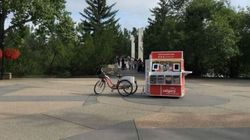 Adorable Pedal-Powered Cart Brings Free Wi-Fi To Calgary
