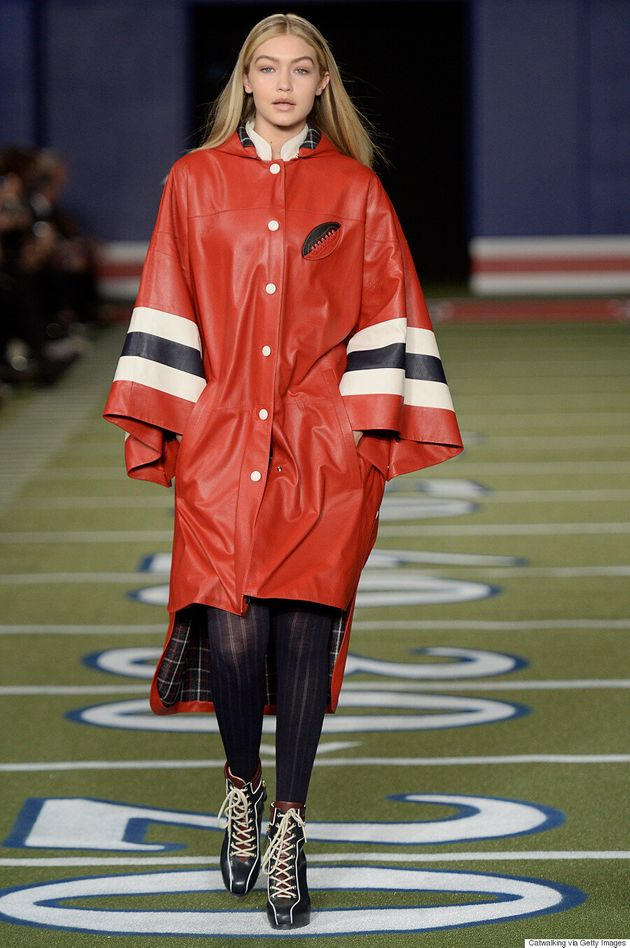 Tommy Hilfiger Sent Gigi Hadid Down The Runway In A Poncho Because She Wasn't Thin