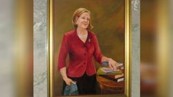 Alison Redford's Portrait Quietly Unveiled In