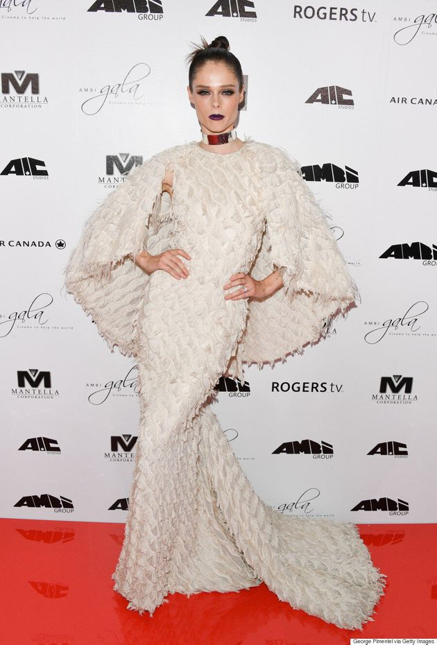 TIFF 2016: Coco Rocha Flaunts In Angelic Christian Siriano Gown At AMBI
