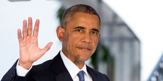 President Barack Obama, waves as he leaves the White House in Washington, Thursday, July 23, 2015, for...