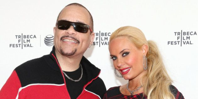 NEW YORK, NY - APRIL 19: Ice-T (L) and Coco Austin attend Tribeca Talks: After the Movie: 'Champs' during...