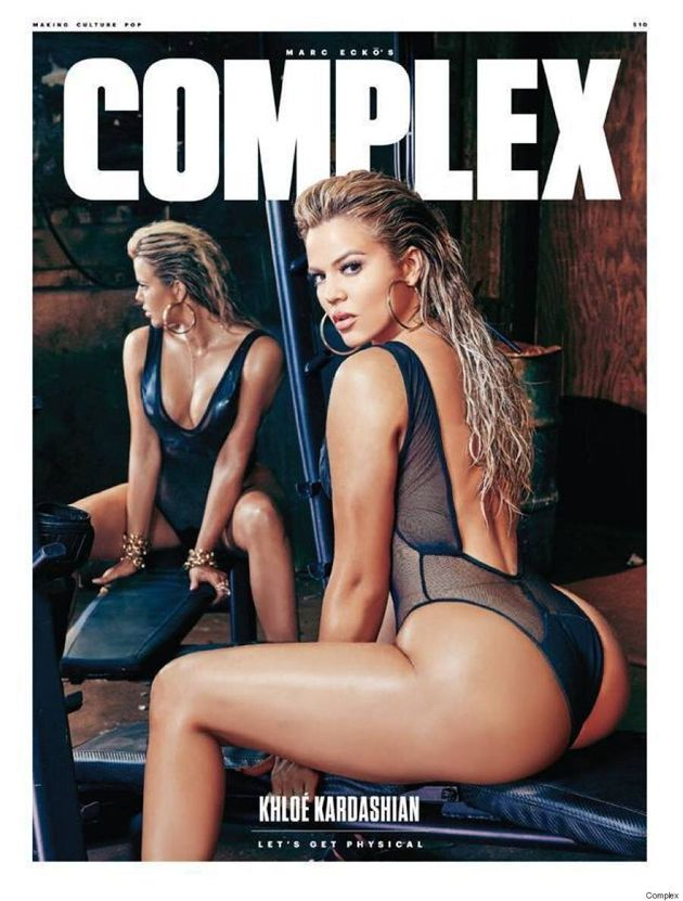 Khloe Kardashian Wears Mesh Bodysuit On The Cover Of Complex