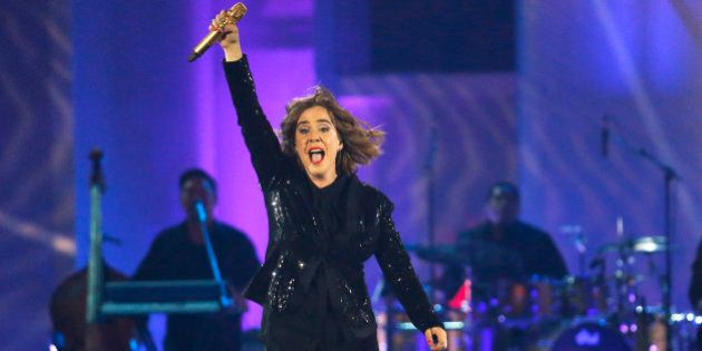 Serena Ryder performs during the closing ceremony of the Pan Am Games Sunday, July 26, 2015, in Toronto....