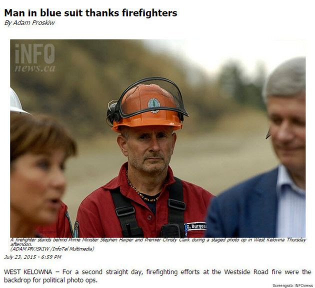 Why A B.C. News Website Referred To Harper Only As 'Man In Blue