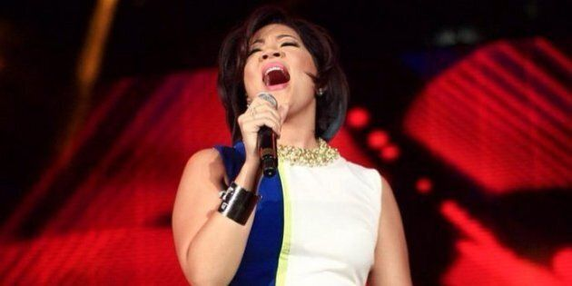Tessanne Chin Wears Colour-Blocked Jumpsuit During Panamania Performance In
