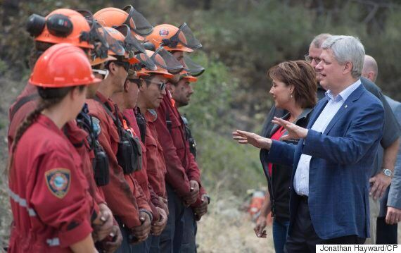 Prime Minister, B.C. Premier Visit Crews Battling West Kelowna