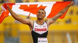 Andre De Grasse Advances To 200-Metre