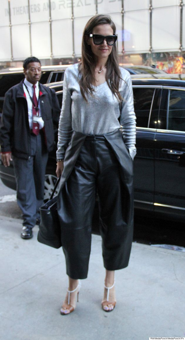 Katie Holmes Makes A Case For Leather Pants In The