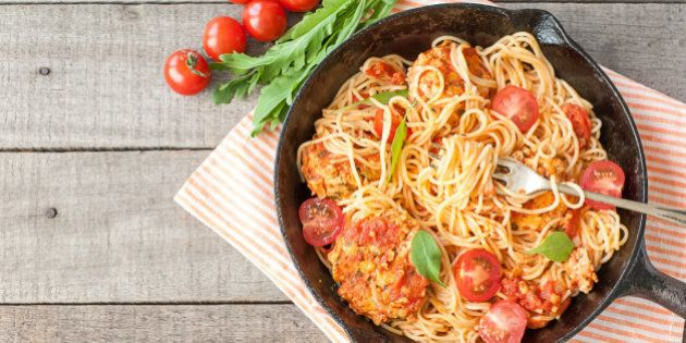 Italian spaghetti with