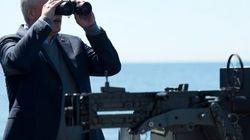 Harper Sees Russian Ships In
