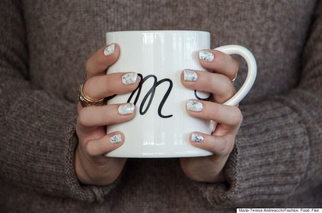 Marble Nail Art: Get A Perfect Marble Mani Right At