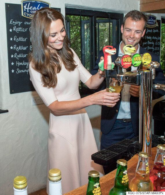 Duke And Duchess Of Cambridge Grab Drinks At Healey's Cider