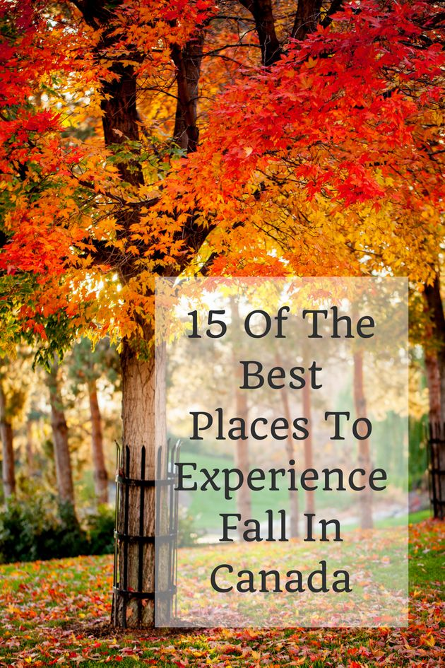 Fall In Canada: 15 Of The Best Places To Experience