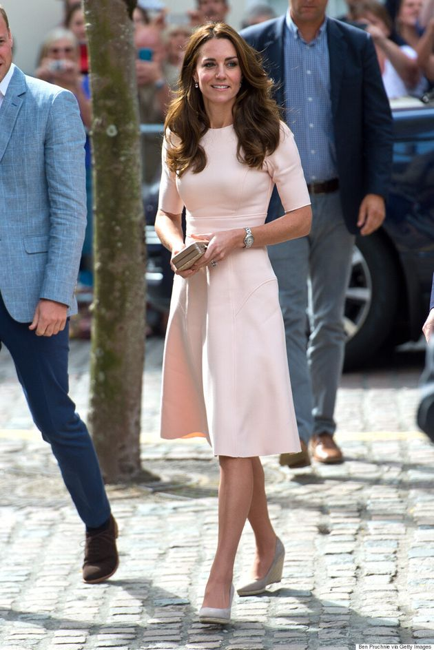 Kate Middleton Is Pretty In Pink During Royal Visit To