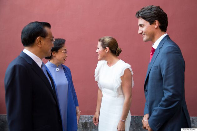 Sophie Grégoire Trudeau Recycles Outfit For China