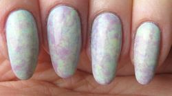 Create This Easy Marble Nail Art Using Plastic