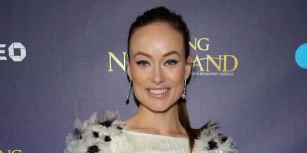 NEW YORK, NY - APRIL 15: Actress Olivia Wilde attends the opening night of 'Finding Neverland' at Lunt-Fontanne...