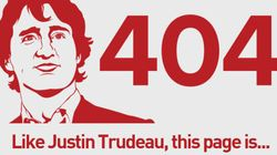 The Conservative Party Is Even Slamming Trudeau With Its 404