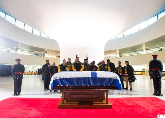 Rob Ford Funeral: Scores Pay Final Respects As Former Mayor Lies In Repose At City