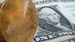 Dollar Drops Below 77 Cents