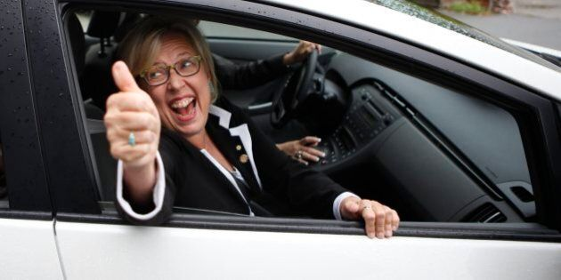 Elizabeth May Outspent Trudeau, Harper And Mulcair To Secure Her Seat In