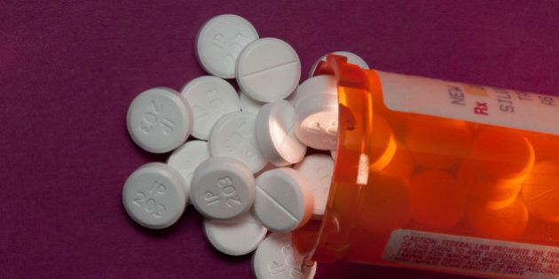 Still life. Oxycodone. Oxycodone is a narcotic pain reliever. Oxycodone has a high abuse potential and is prescribed for moderate to high pain relief associated with injuries, bursitis, dislocation, fractures, neuralgia, arthritis, and lower back and cancer pain. OxyContin, Percocet, Percodan, and Tylox are trade name oxycodone products. (Photo by: Education Images/UIG via Getty Images)