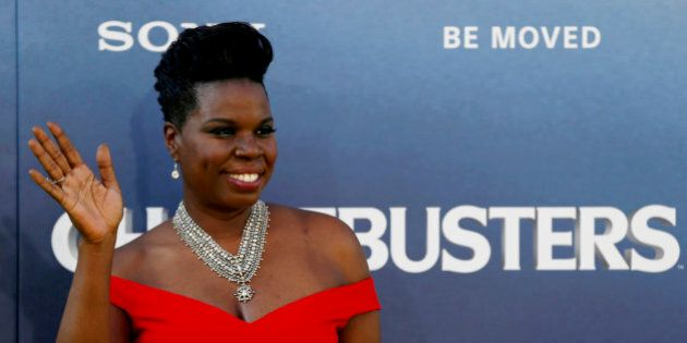 Cast member Leslie Jones poses at the premiere of the film