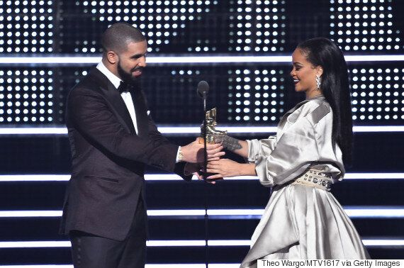 Drake Surprised Rihanna With Her MTV VMA Vanguard Award And A Confession Of