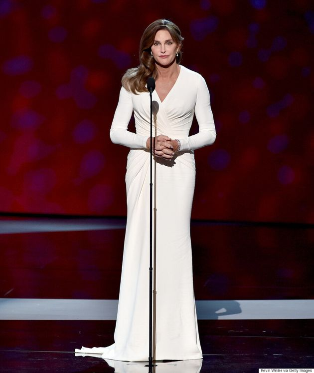 Caitlyn Jenner Makes Her Red Carpet Debut In Versace Dress At ESPY