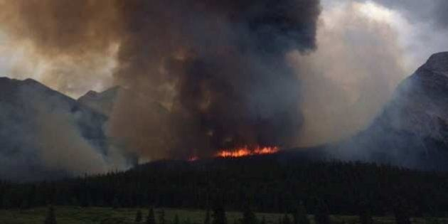 Banff Wildfire Continues To Burn
