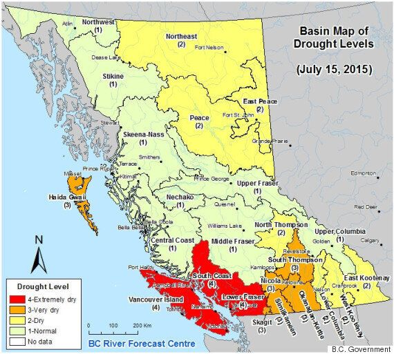 B.C. Drought Status Raised To Max Level For Lower Fraser, South