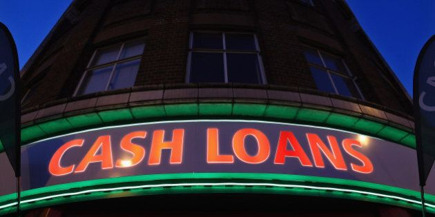 LONDON, ENGLAND - NOVEMBER 01: A general view of a 'Speedy Cash' cash loans shop on Brixton High Street...